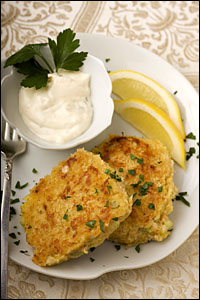 Grilled Curried Albacore Cakes